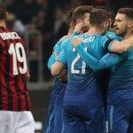 """Арсенал съсече Милан на """"Сан Сиро"""", Динамо Киев и Лацио със зрелищно реми, Борусия падна от Залцбург"""